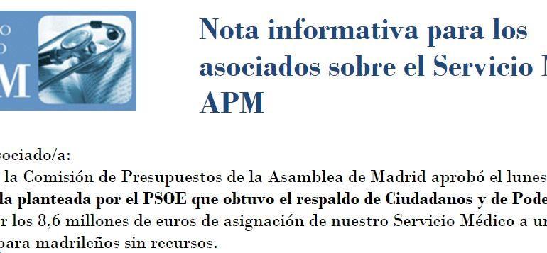 Se acabó el seguro médico de la Asociación de la Prensa de Madrid